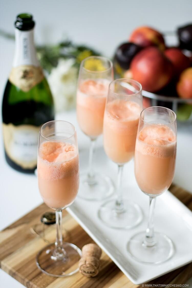 Champagne Over Sherbert is the perfect Brunch Beverage