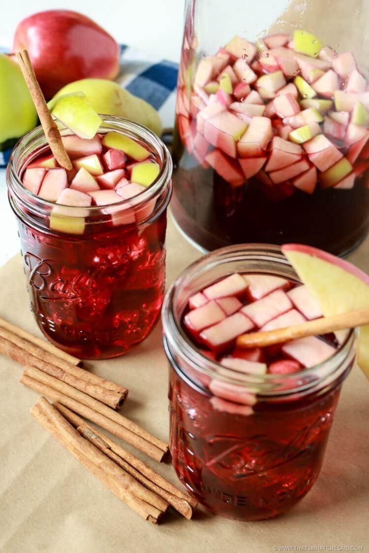 Simple Fall Cinnamon Apple Sangria Recipe