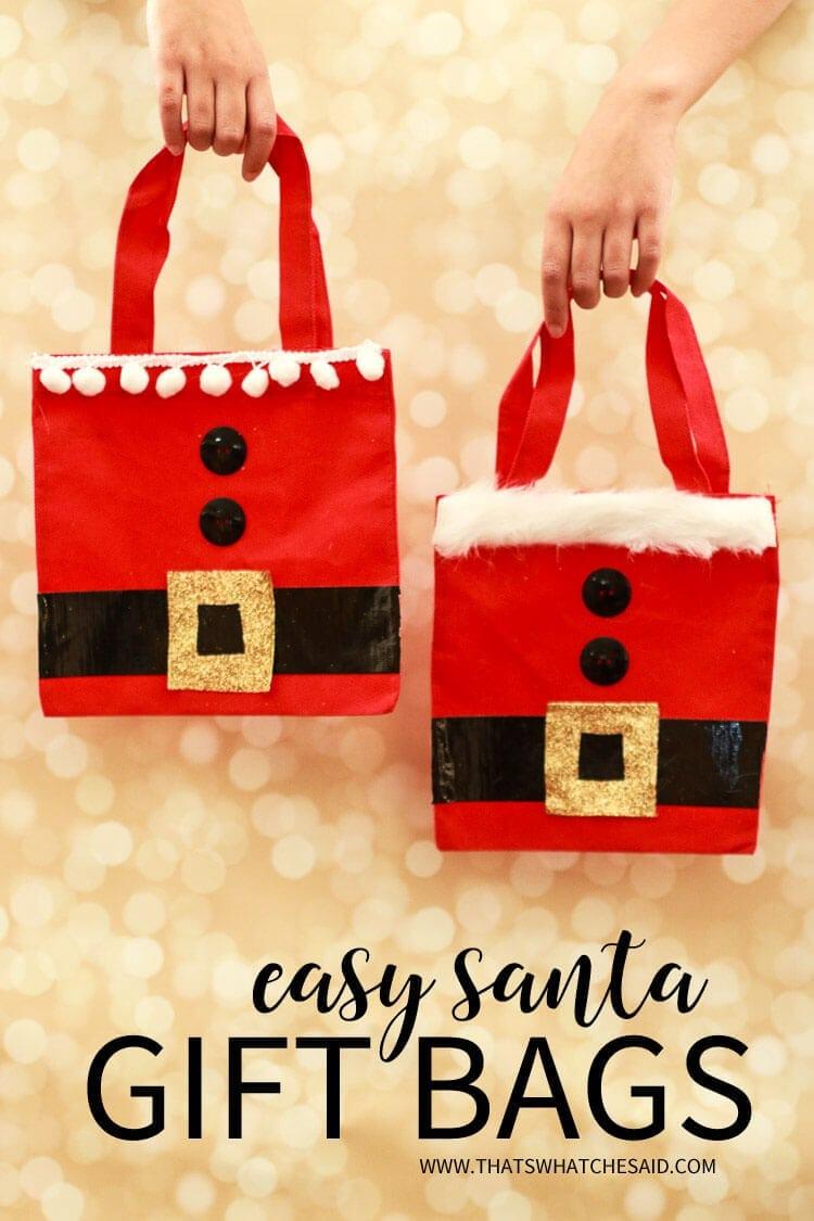 Easy Gift Wrap Ideas - Santa Sack Gift Bags