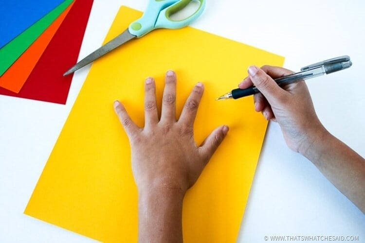 Hand and Footprint Paper Turkey Craft for Kids