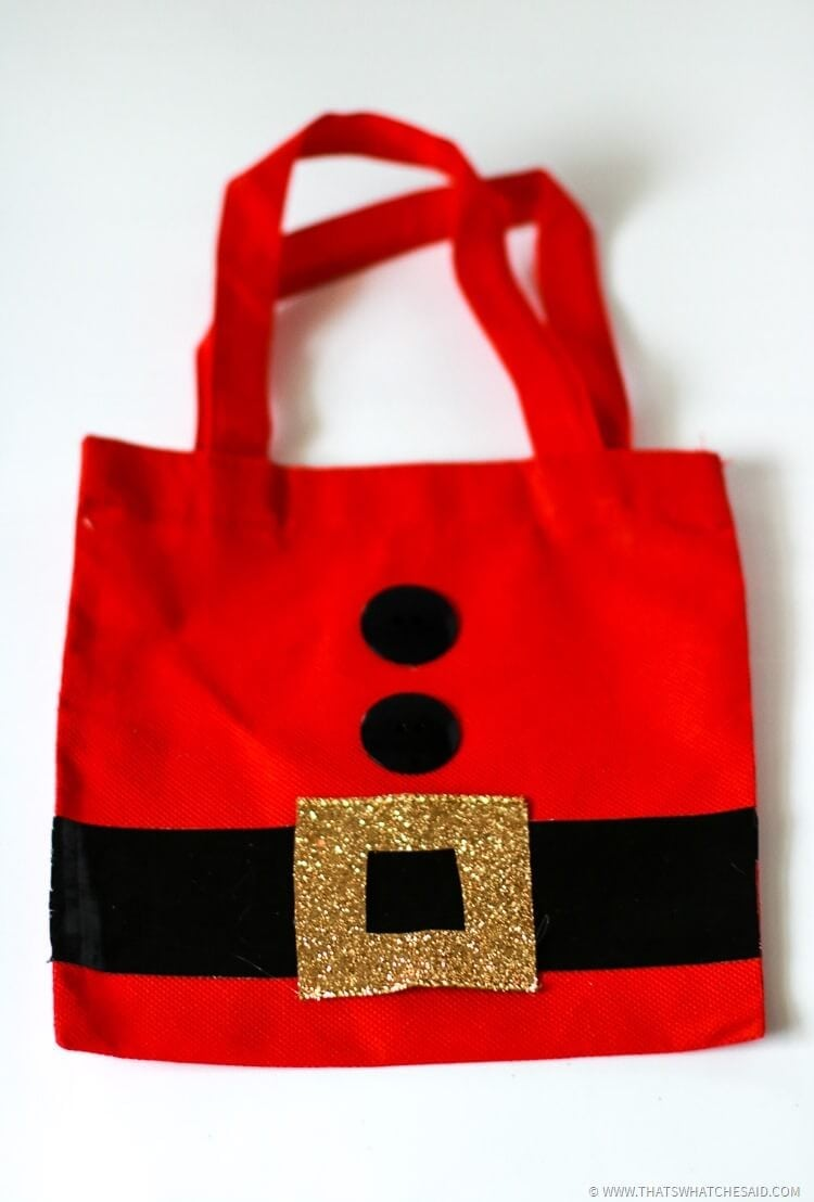 Santa Sack Gift Bag Idea