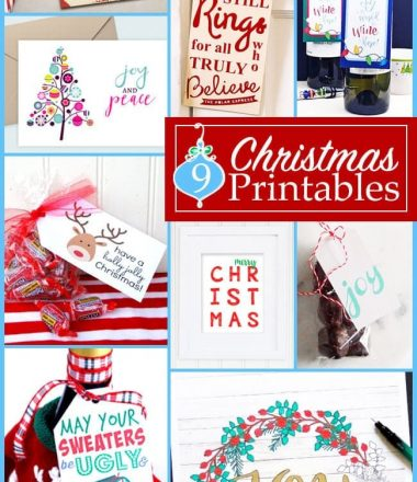 Cute Christmas Printables Monday Funday Party