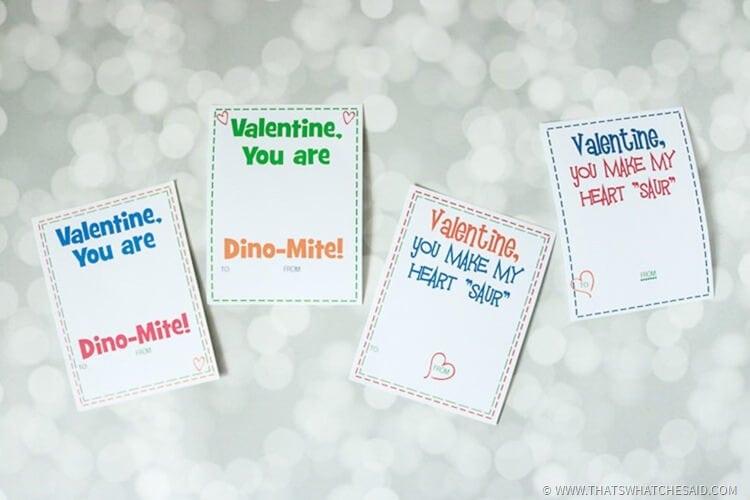 Dinosaur Free Printable Valentine Cards