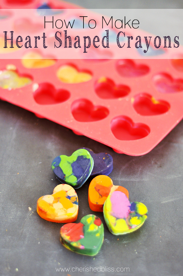 Silicone heart mold with completed diy heart shaped crayons