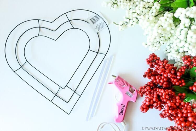 Heart Berry Wreath - Valentines Day Wreath