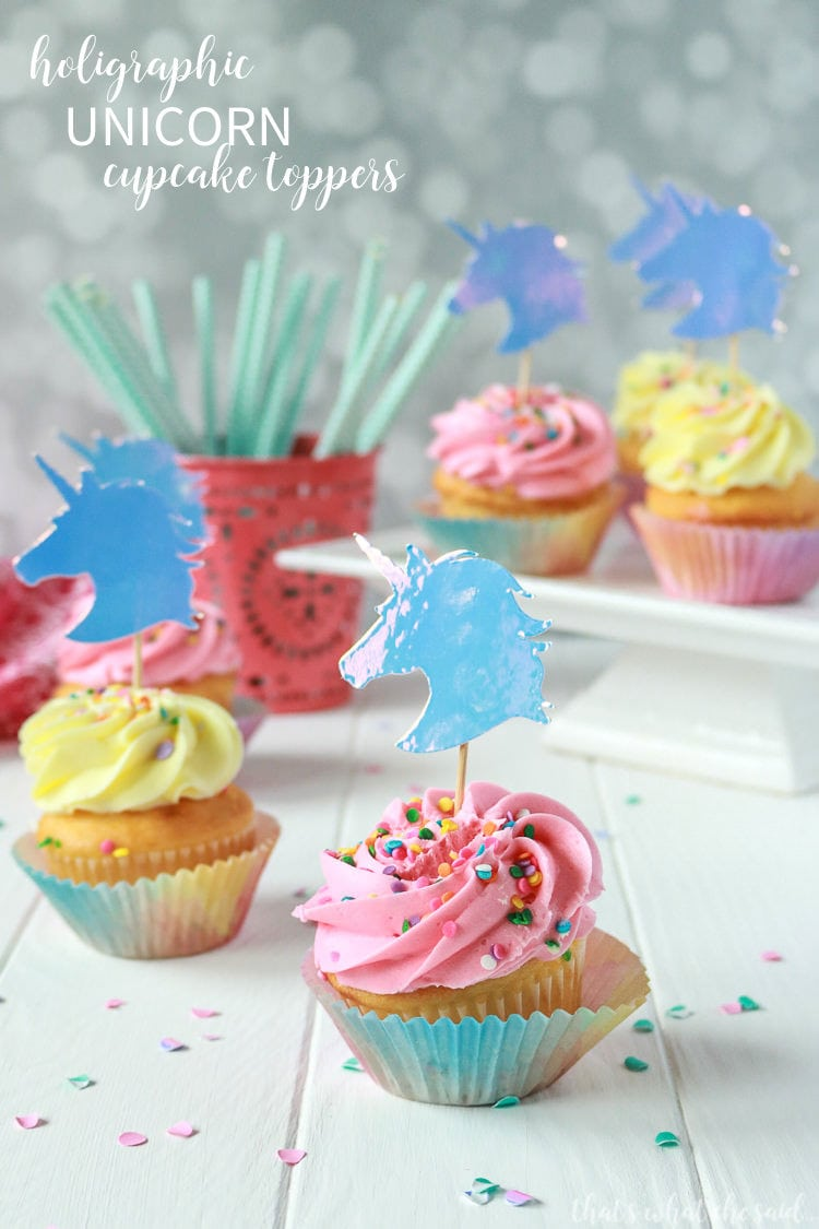 Easy Unicorn Cupcake Toppers