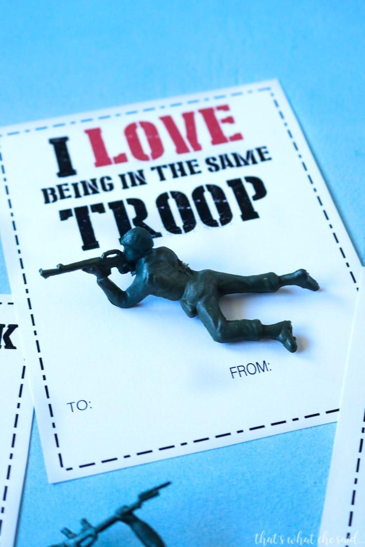 Boy Valentine Card - Army Man