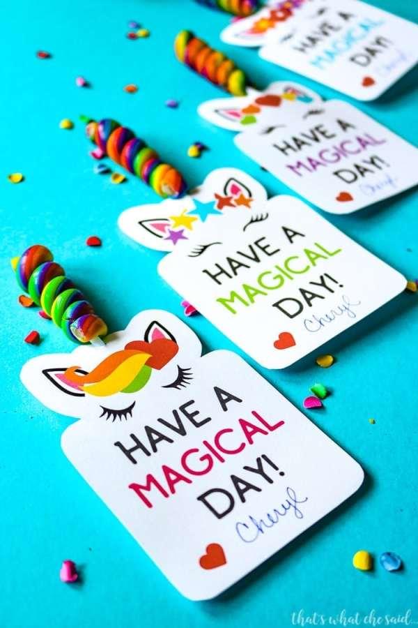 Unicorn Printable Valentine Cards - That's What {Che} Said...