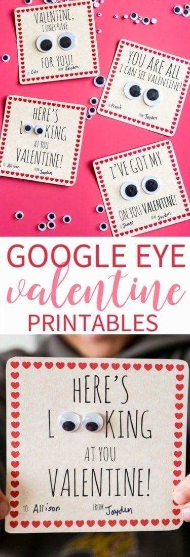 Googly Eye Valentine Free Printable