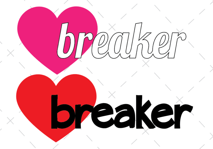 2 designs for child's valentine's day shirt