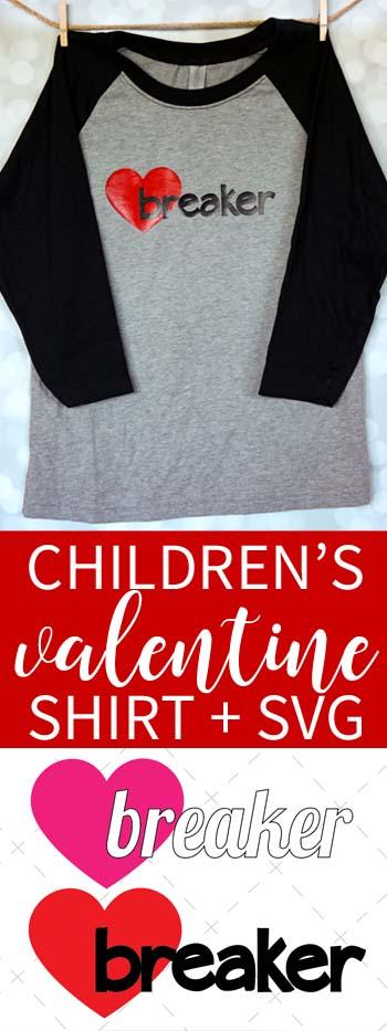 Heartbreaker kid's valentine shirt