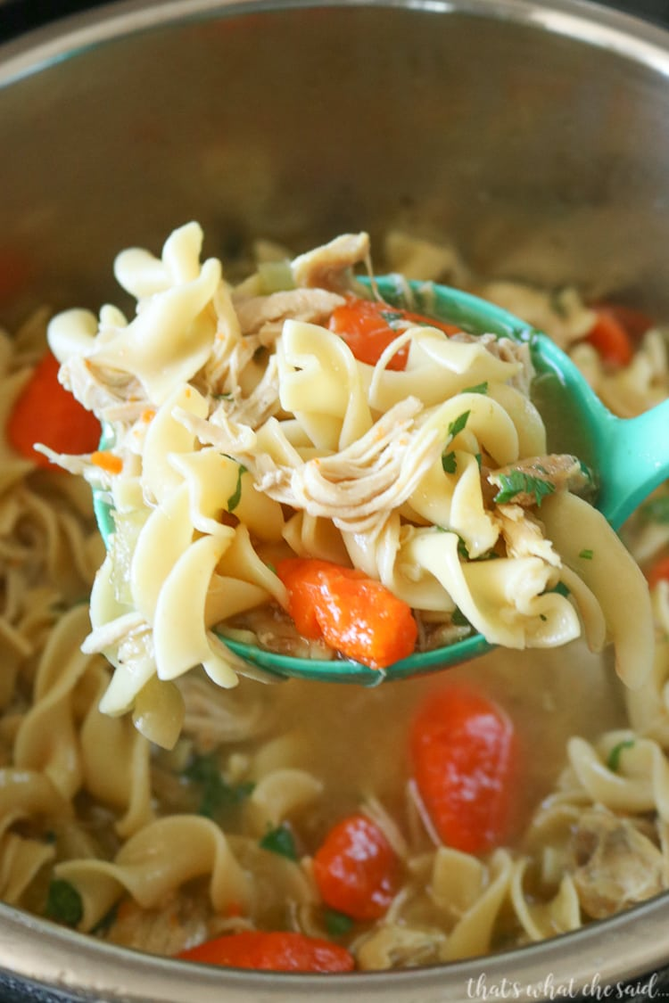 How to Make Chicken Noodle Soup in the Instant Pot