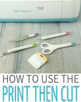 How to use the Print then Cut Feature on Cricut Design Space