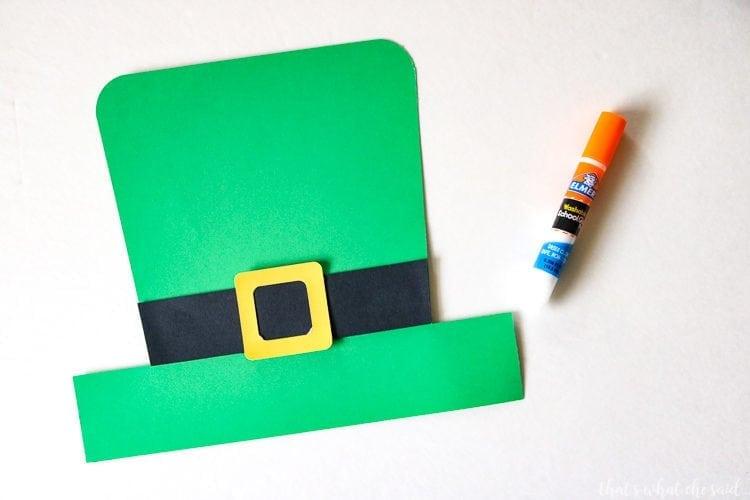 Easy to Assemble Leprechaun Paper Hat