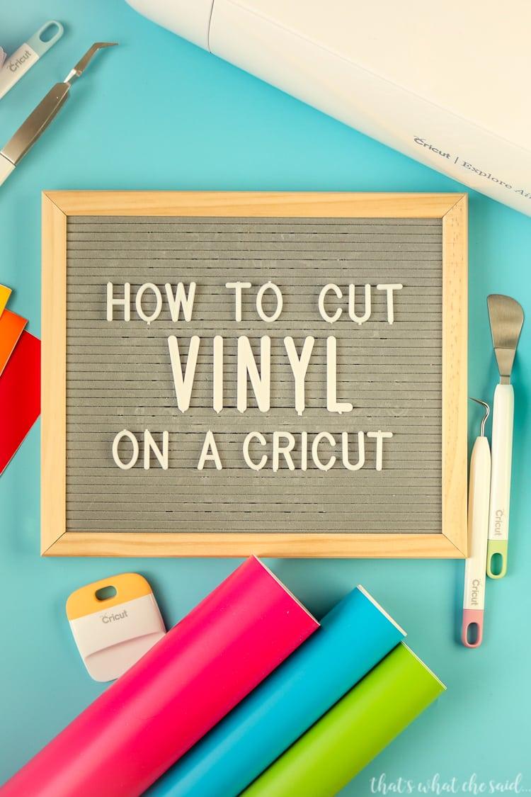 How to Cut Vinyl on a Cricut Machine