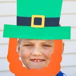 Paper Leprechaun Hat & Beard