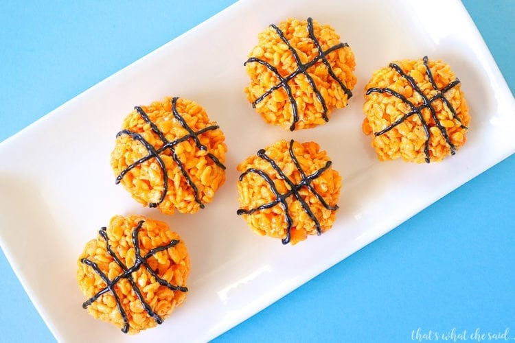 Basketball Rice Krispie Treats