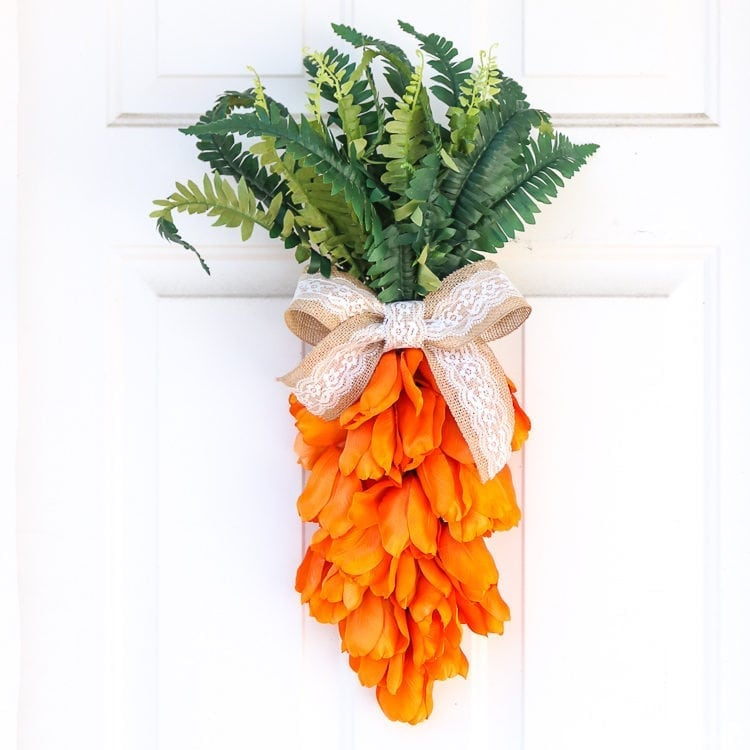 Carrot Easter Wreath from Fake Tulips