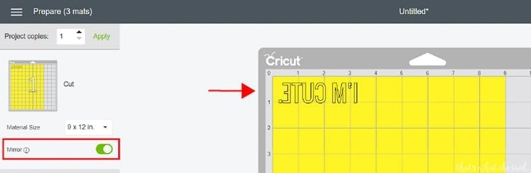 Cutting Heat Transfer on a cricut - Why You have to Mirror Your Design