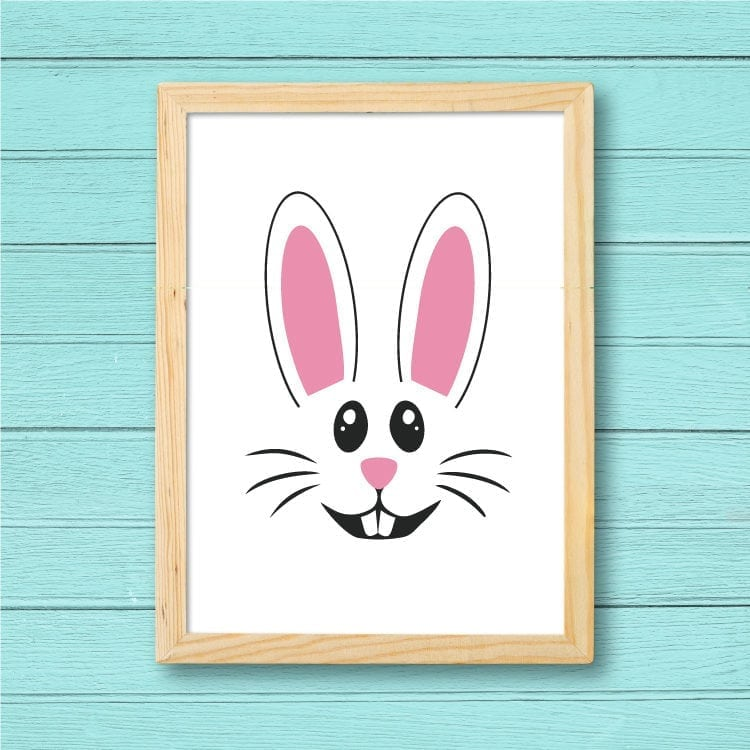 Easter Bunny FilePrinted and Framed for Easter Wall Decor
