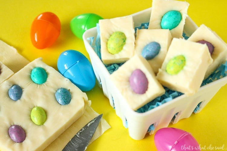 Quick & Easy Easter Fudge Recipe perfect for your Easter get-togethers!