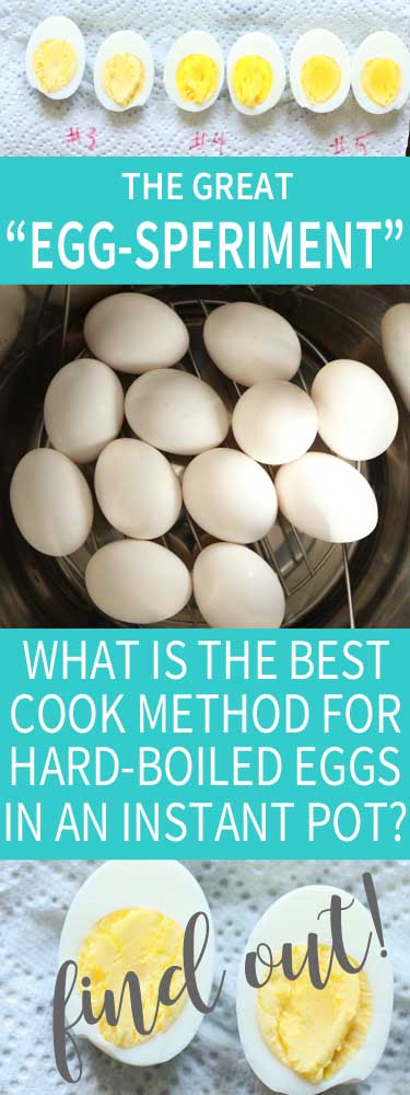 EggSperiment - Find out which IP cook method is best for hard boiled eggs