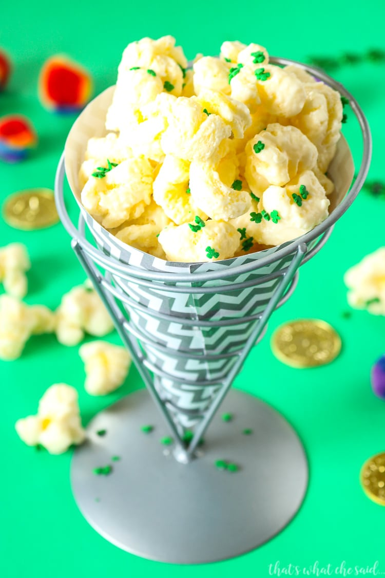 St Patrick's Day Shamrock Puffcorn Crack Recipe
