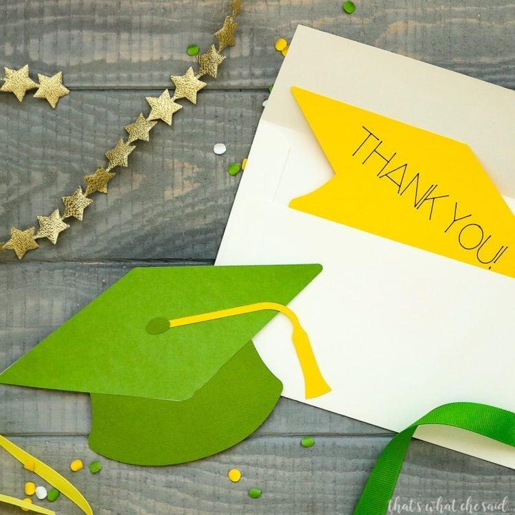 DIY Cardstock Graduation Thank You cards