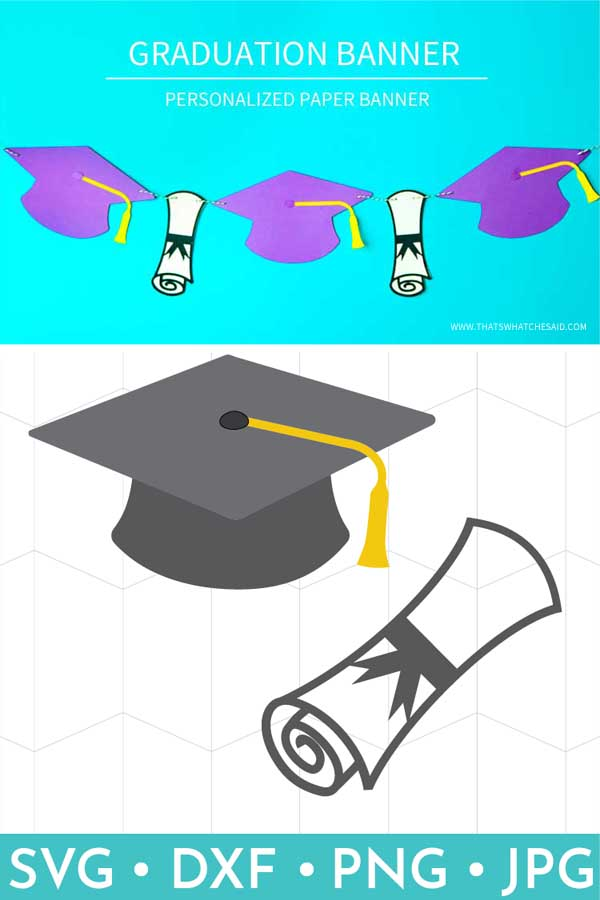 This Graduation Cap & Diploma SVG files are perfect for all your Graduation crafting projects!