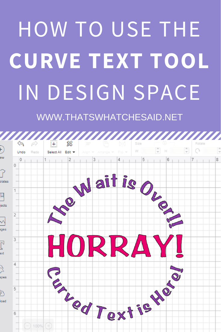 Cricut Design Space Tutorial - How to use Curved Text Tool