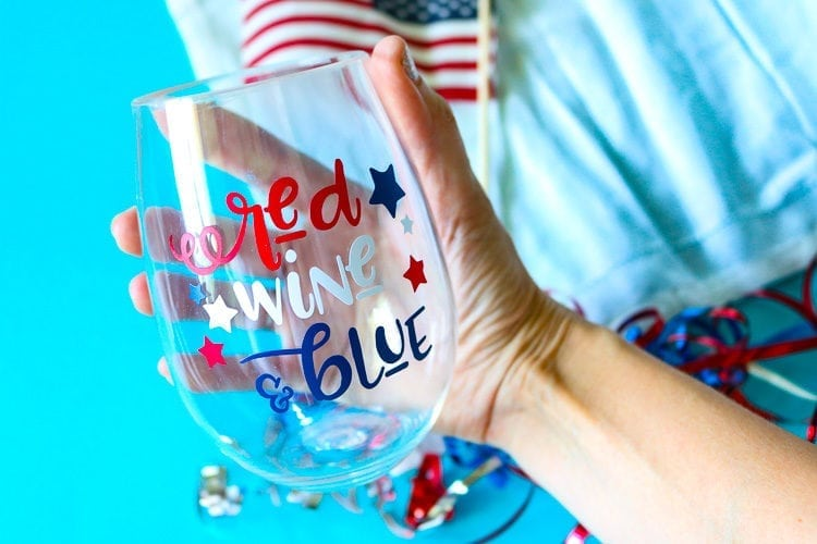 Wine Glass for Patriotic Holidays