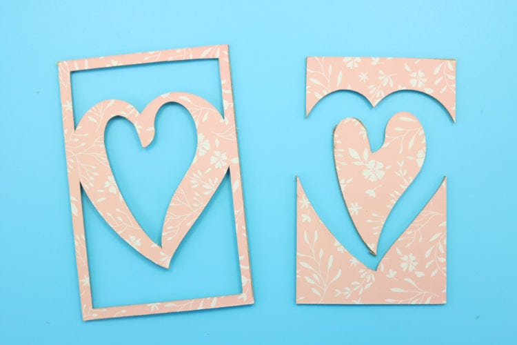 Finished cut chipboard insert for photo frame luminary