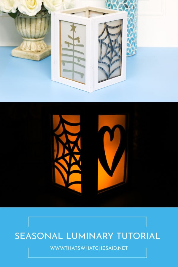 Seasonal Luminary shown in the daylight as well as illuminated in the evening!