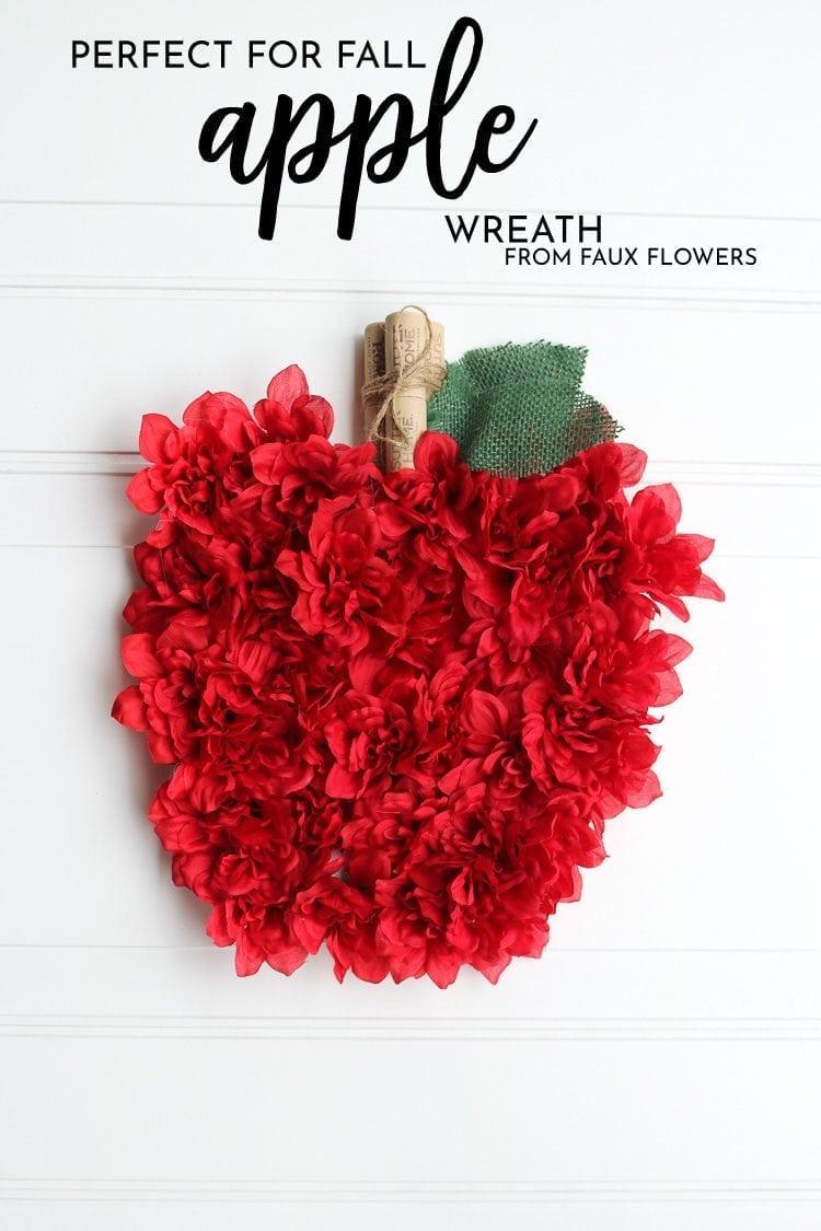 Fall Apple Flower Wreath Craft Project