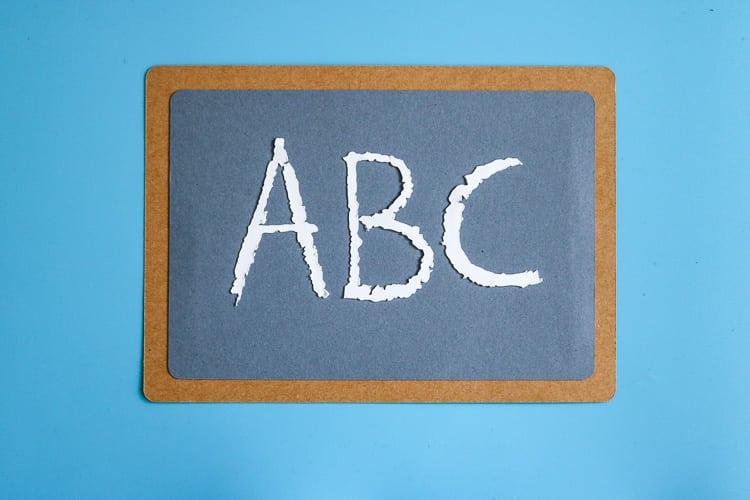 Paper Chalkboard Cut out