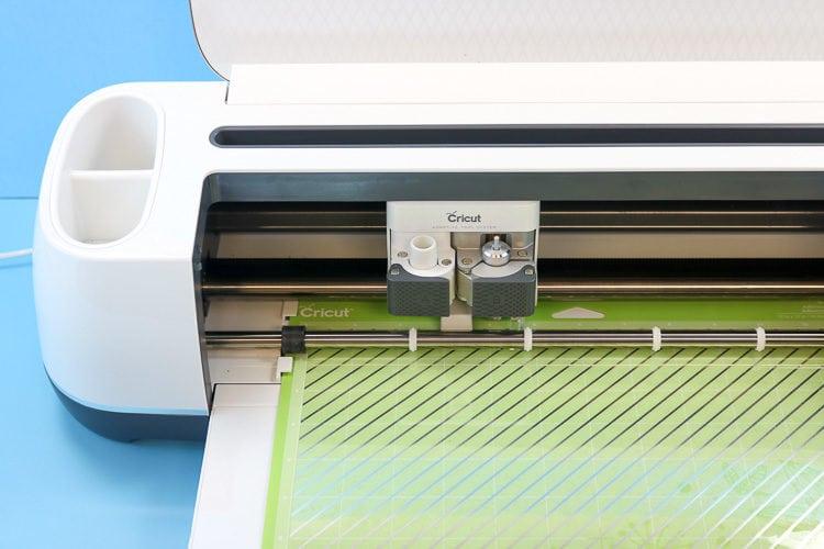 Acetate Foil Side Down in Cricut Maker