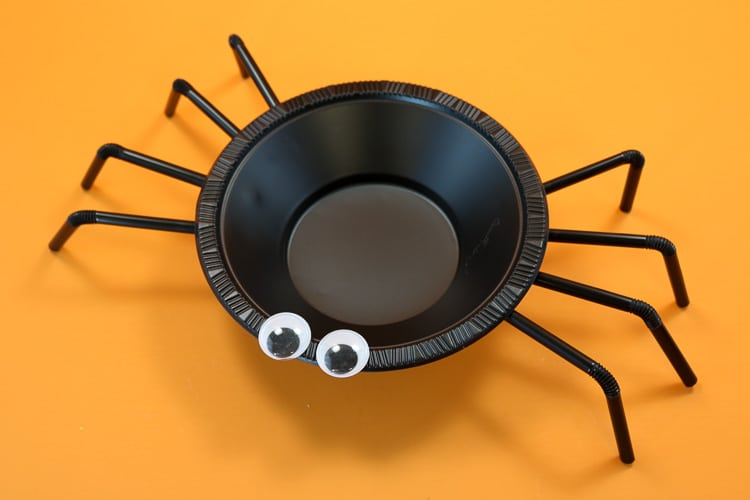 Finished Spider Treat Bowl