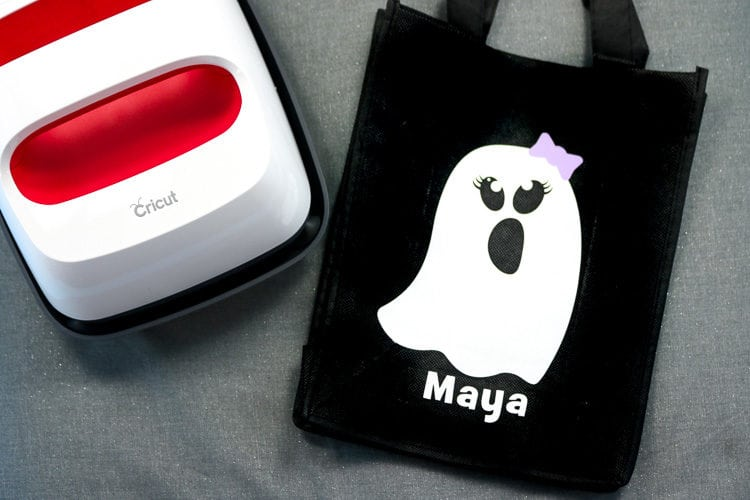 Finished Ghost Treat Bag with the EasyPress2