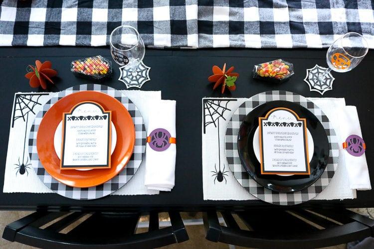 Halloween Tablescape using the Cricut Maker