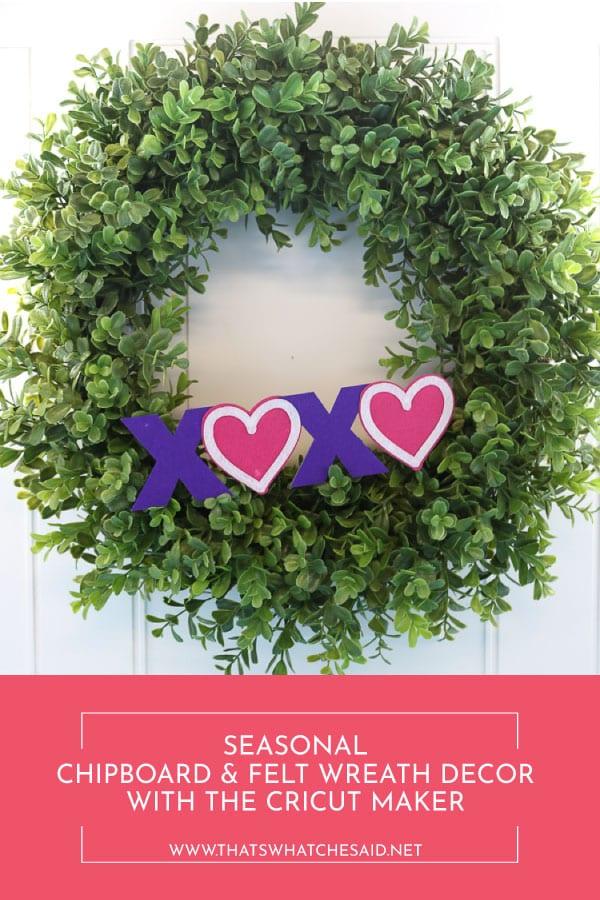 Make interchangeable seasonal boxwood wreath decor with your Cricut Maker