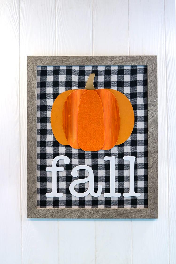 Perfect Fall Mixed Media Sign