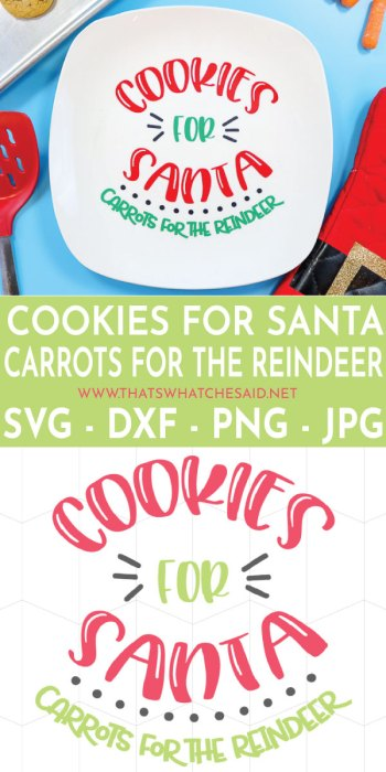 Cookies for Santa Plate. Perfect to gift as well