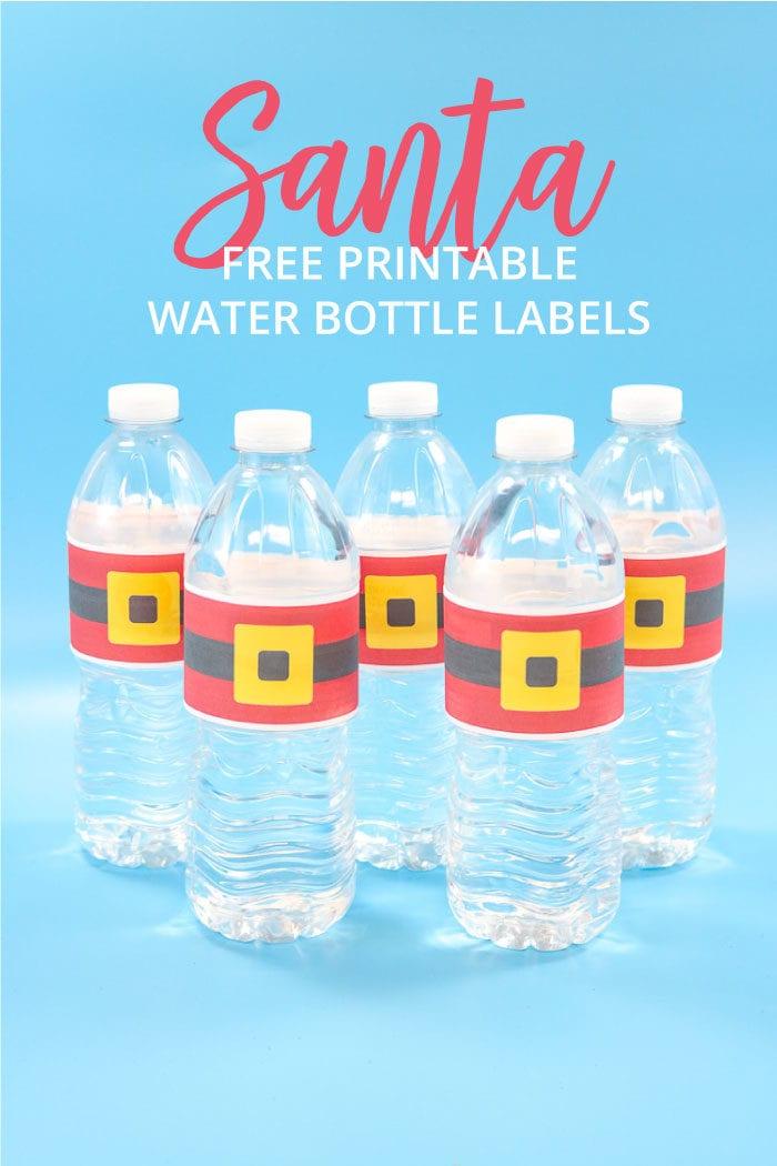 Santa Water Bottle Labels Free Printable