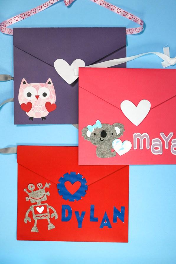 DIY Envelope Valentine Boxes