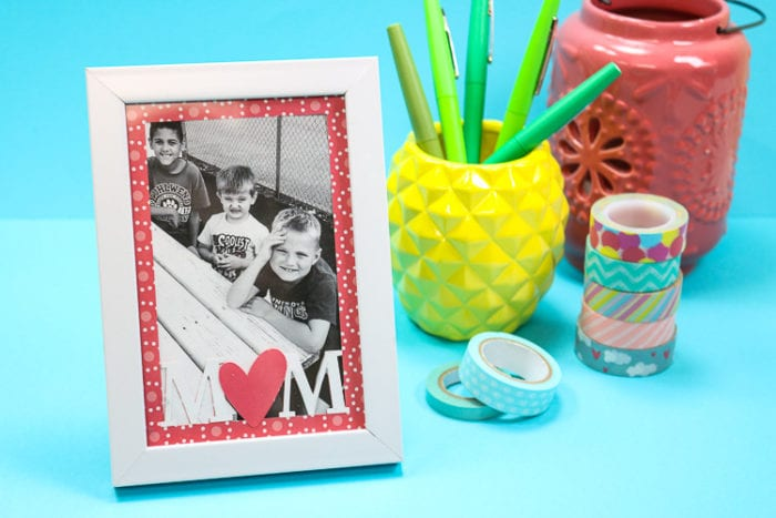 White Frame with MOM Paper insert to personalize for Mother's Day Gift