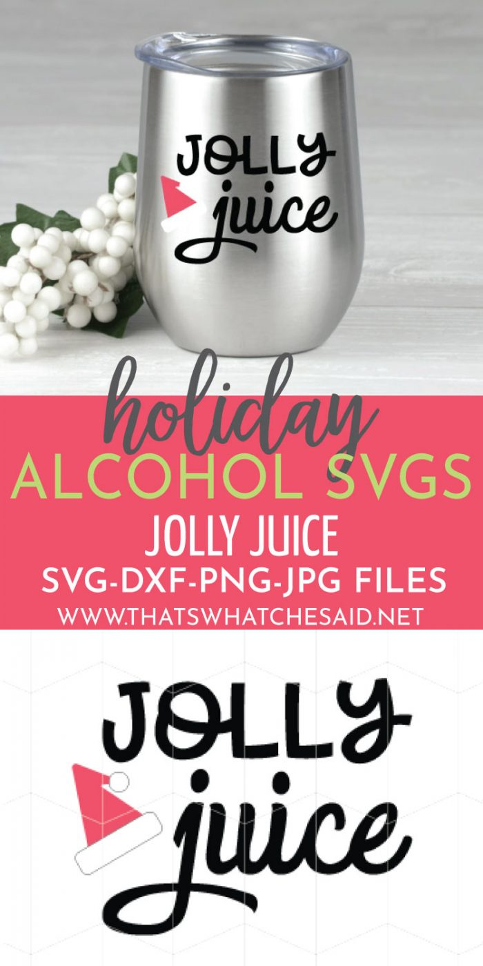 Jolly Juice Holiday Beverage Cup Decal