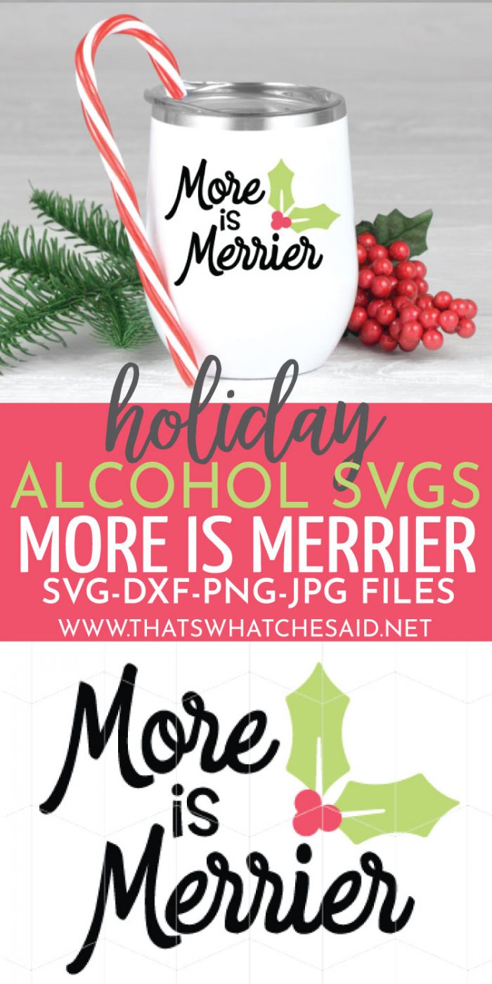 More Is Merrier Holiday Beverage Cup Decal