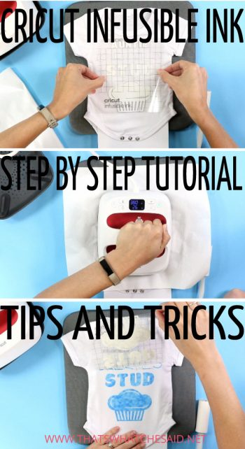 Step by Step instructions on cutting and weeding Cricut Infusible Ink Transfer Sheets