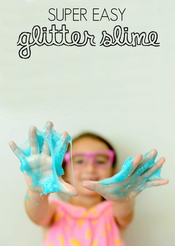 Glittery blue slime.