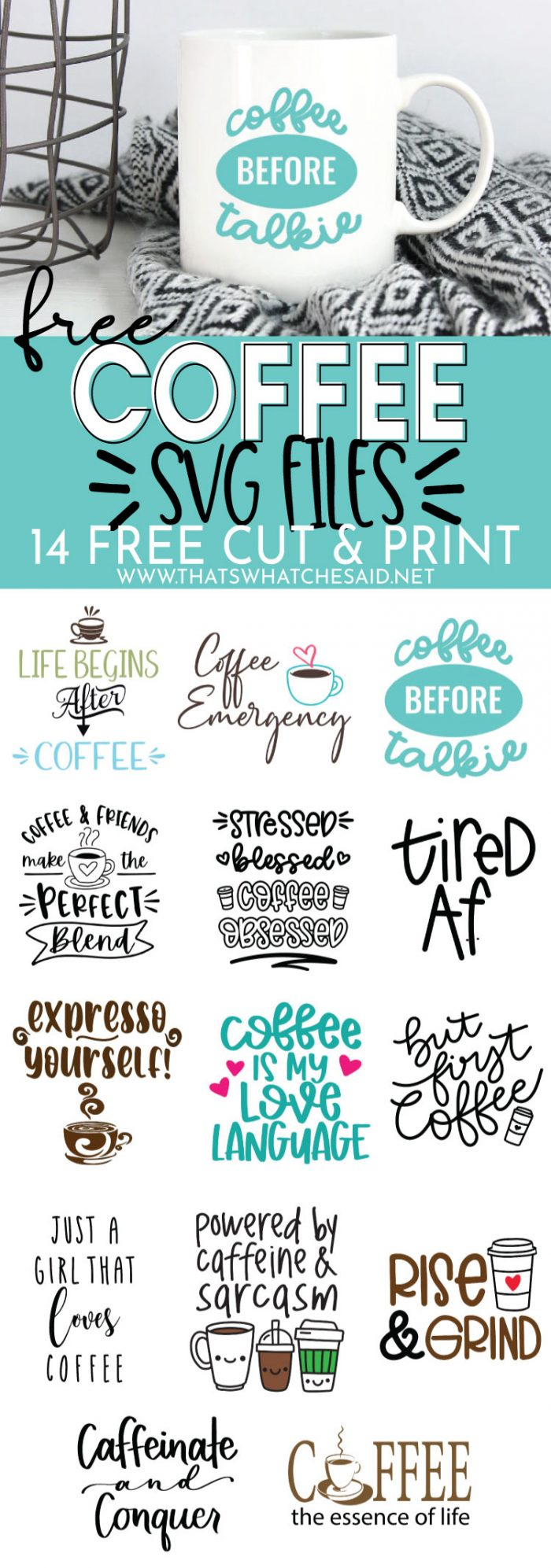 Download Coffee SVG + 13 FREE Coffee SVG Files - That's What {Che ...